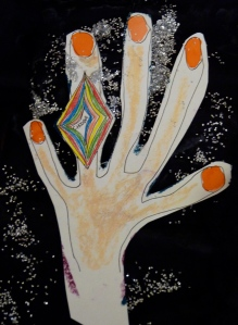 the chooba diamond- drawing by Julie Seyler