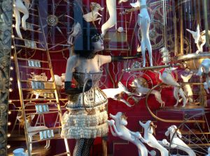Christmas window at Bergdorf Goodman