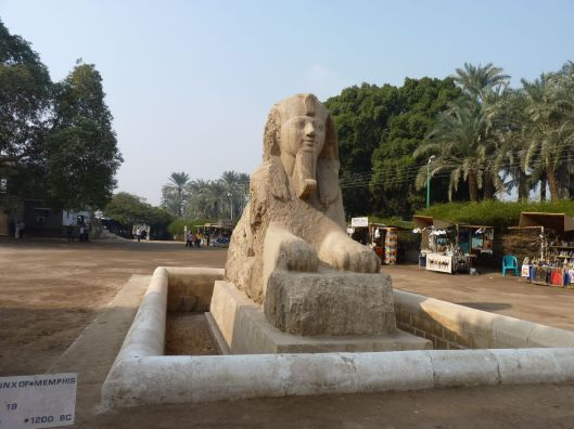 The Alabaster Sphinx.  Sculpted over 2500 years ago.  Memphis, Egypt.