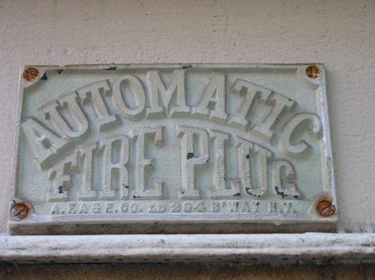 automatic fireplug.  west 20th street.