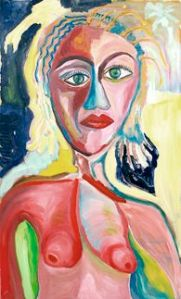 Is she beautiful?  Oil on canvas.  Julie Seyler