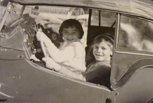 In Dad's MG, circa 1960.