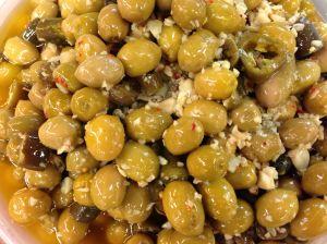 cracked olives