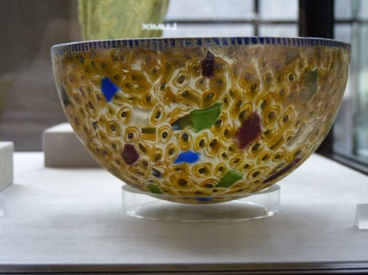 glass mosaic bowl 1st century B.C. to 2nd century A.D.