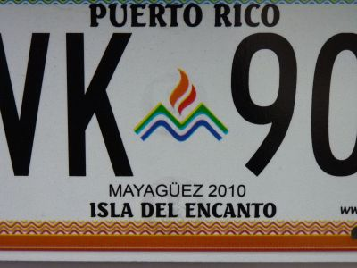 License Plate.  Photo by Julie Seyler