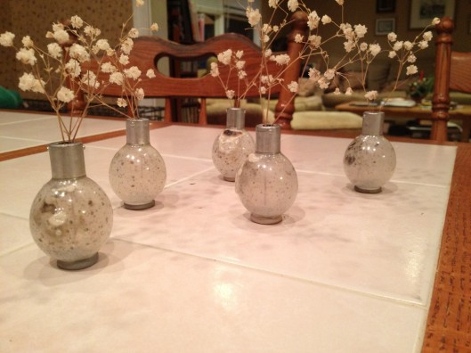 Flash bulb vases.  Made and photographed by Bob Smith