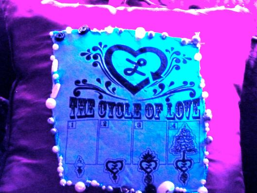 """The Cycle of Love"".  Pillow art by Julie Seyler"