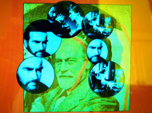 Sigmund Freud and Montgomery Clift.