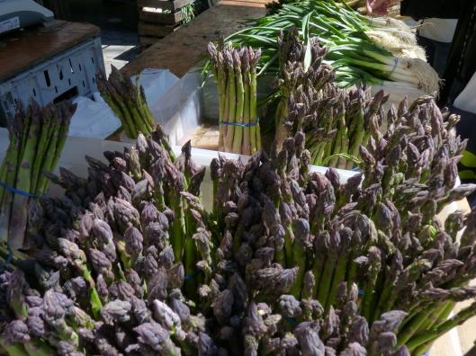 Asparagus has arrived.  All photos by Julie Seyler.