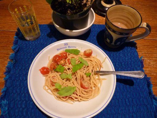 Spaghetti for breakfast.