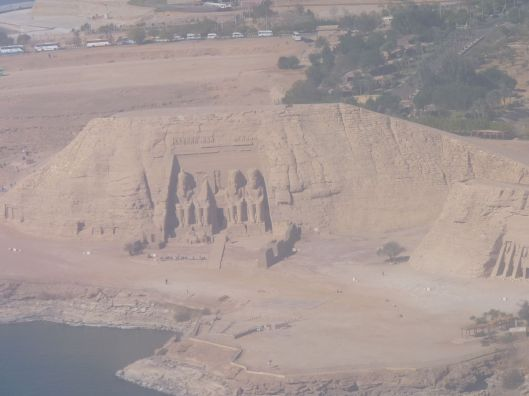 Abu Simbel from the plane. Egypt, November, 2009.