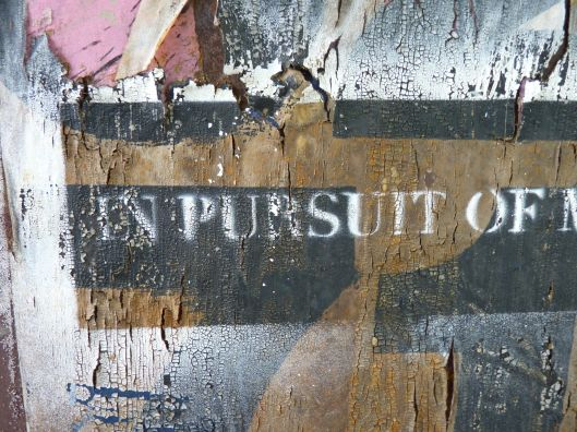 In pursuit of...