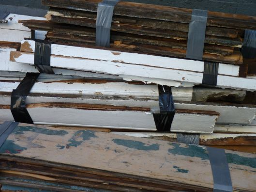 what renovation wrought- good looking piles of wood