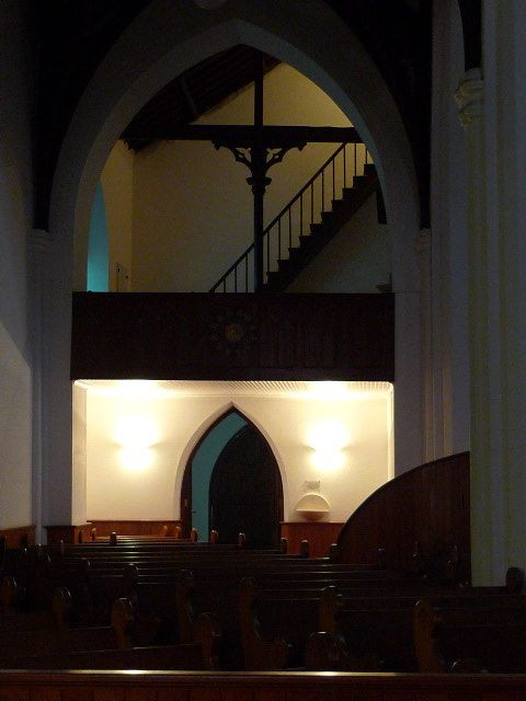 inside an old church in Stellenbosch