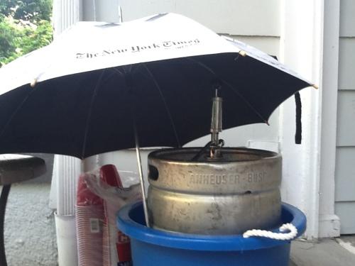 sun blocked keg