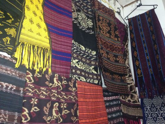Fabric shopping at Labuan Bajo Airport