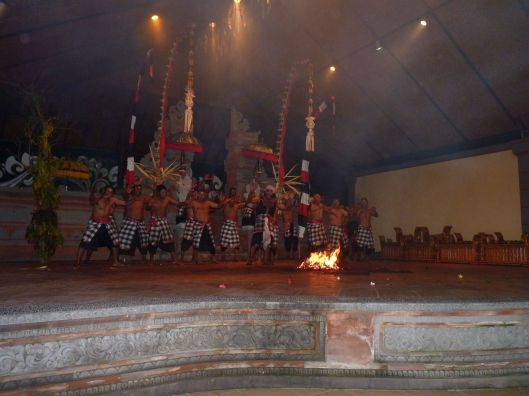 The fire dance from the kecak.