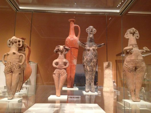 Five terracotta statues from Cyprus 1450-1200 BC