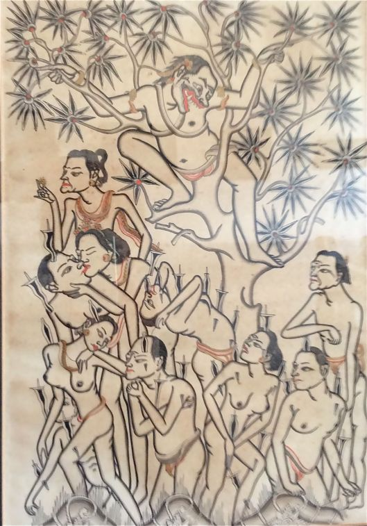 """Punished Souls in Hell"" (1932) by I Gusti Nyoman Lempad"