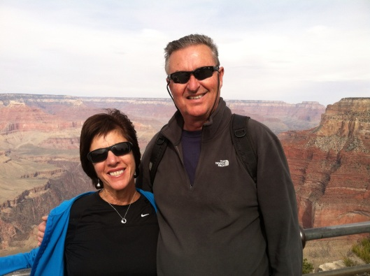 Margie and Phil at the Grand Canyon