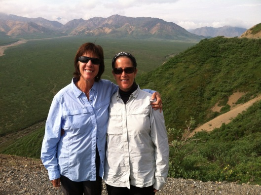 Margie and buddy in Denali.