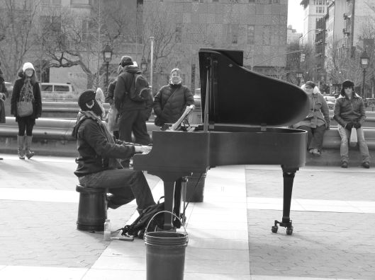 i came across a guy playing the piano