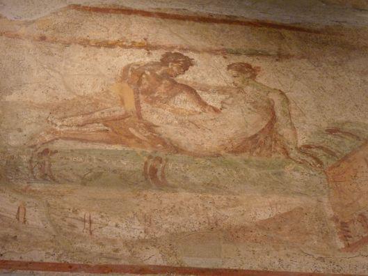 Fresco on the Hospitality House in Pompeii