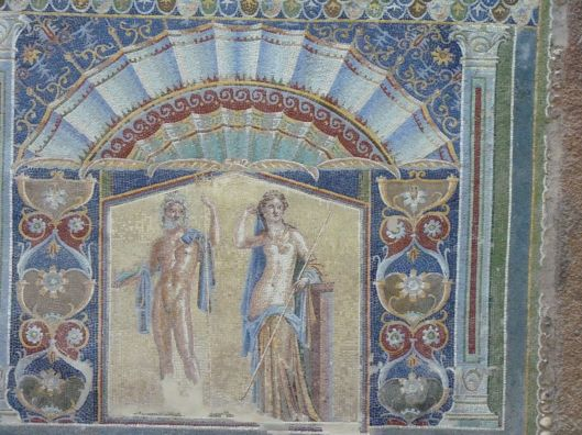 Wall mosaic from Herculaneum from the Casa di Nettuno and Anfitrite