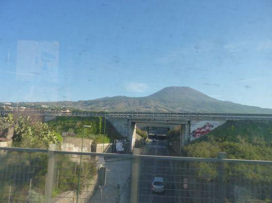 mt Vesuvius from the train