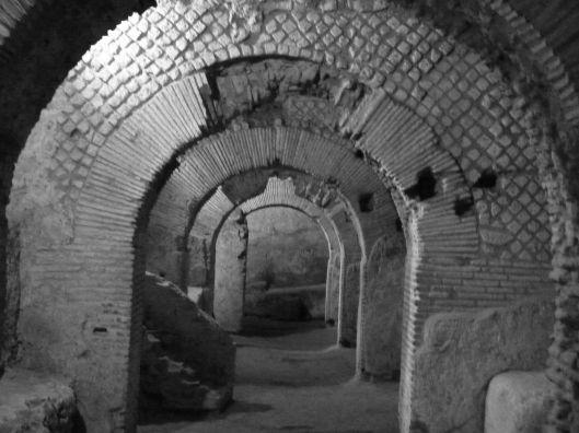 The Crypto-portico under San Lorenzo Maggiore church. 1st-2d c. A.D.