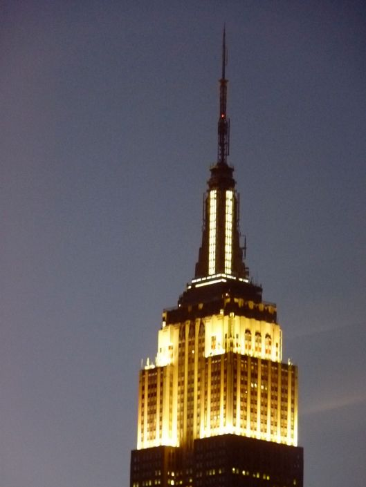 Empire State Building. Early evening.