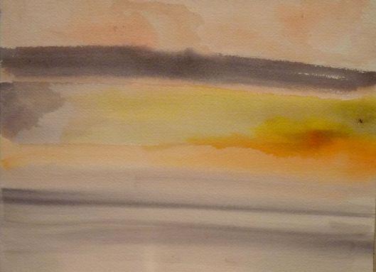 New Day. watercolor. Julie Seyler.
