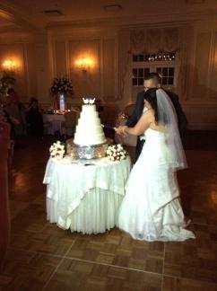 Frank wedding cake