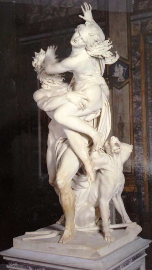 "Gian Lorenzo Bernini, ""The Rape of Persephone"", 1621-22."
