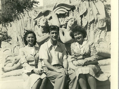 Me, my sister Liz and my brother-in-law Phil (1943).