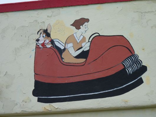 Bumper car painting from the old Palace Amusement Park.