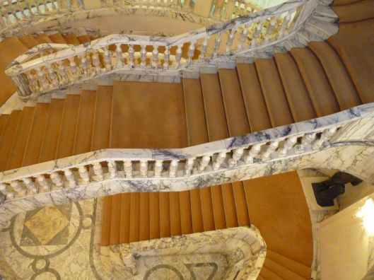 stairs at the Royal Art Museum Bucharest