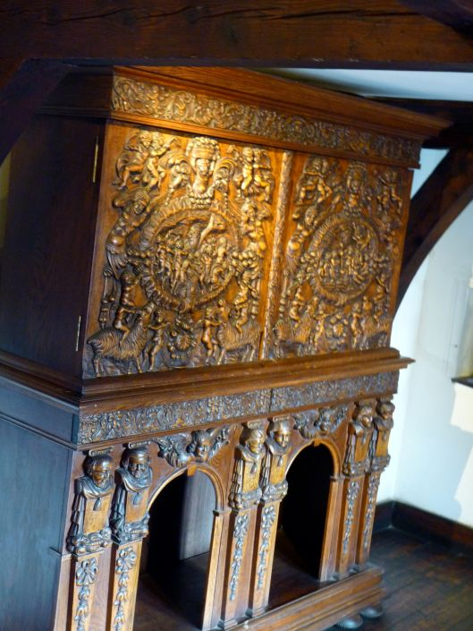 Carved wooden cabinet.