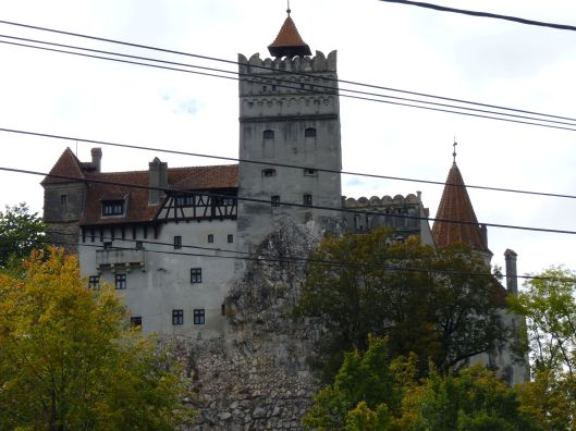 Looking up at Bran Castle