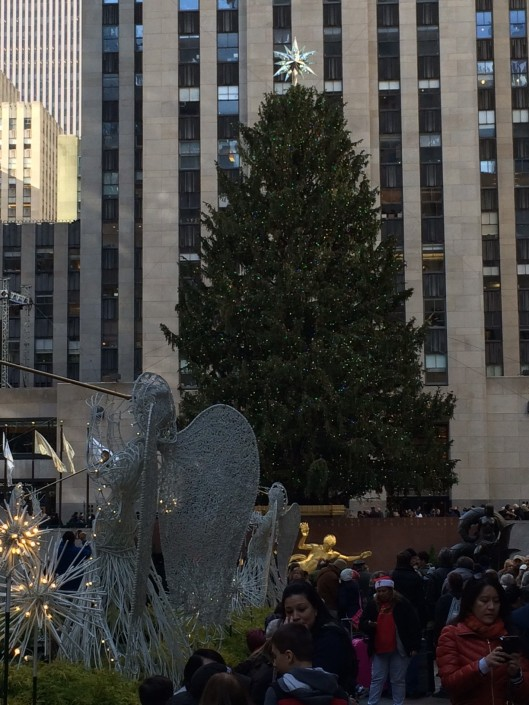 Christmas tree. Rockefeller Center.