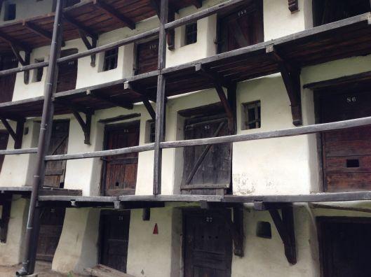 Medieval apartment complex.