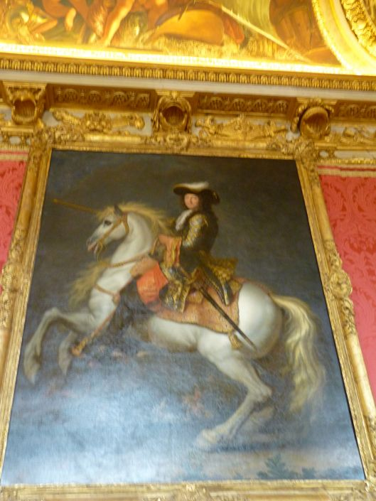 Louis on a horse by Rene-Antoine Houasse