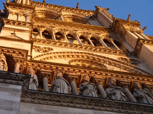 North facade of Notre Dame Cathedral. Late afternoon .
