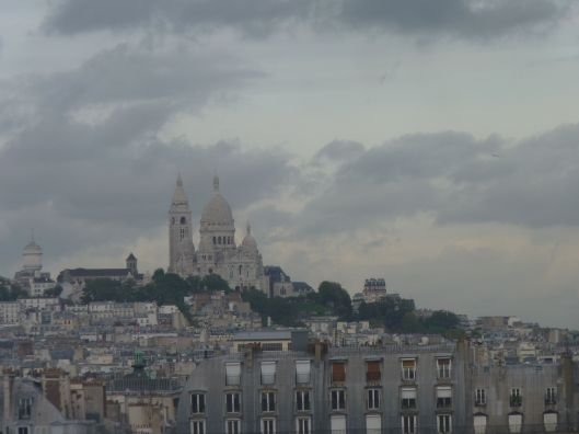 Looking at Montmartre from the Musee D'Orsay.