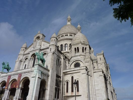 Looking up at Montmartre.