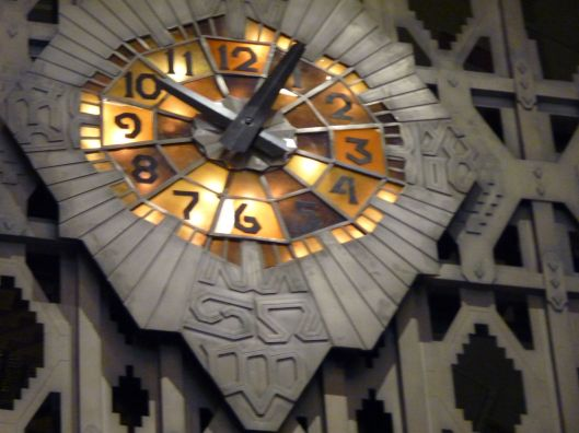One of 5 remaining original Tiffany clocks inside the Guardian Building.