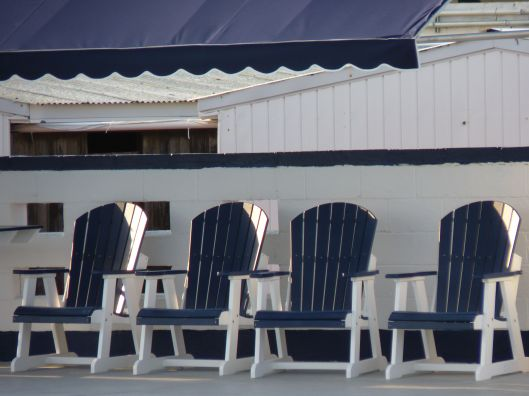 Chairs. Allenhurst Beach Club. June 26, 2015.