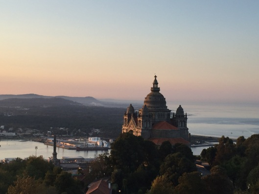 Sunrise view from the pousada in Viana do Castelo.