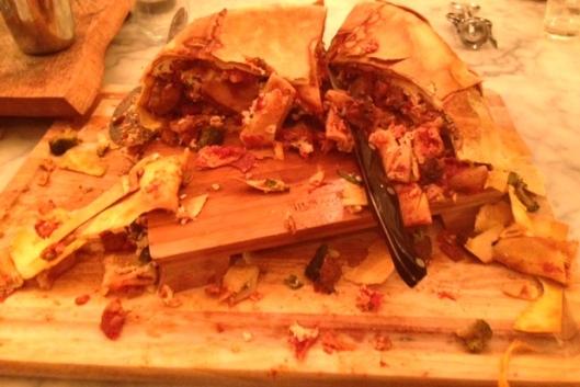 Timpano eaten